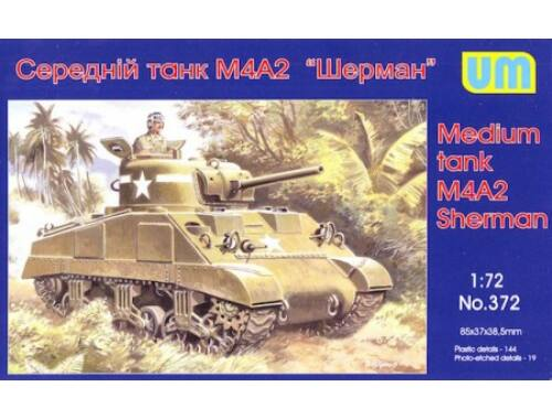 Unimodel M4A2 Sherman medium tank 1:72 (372)