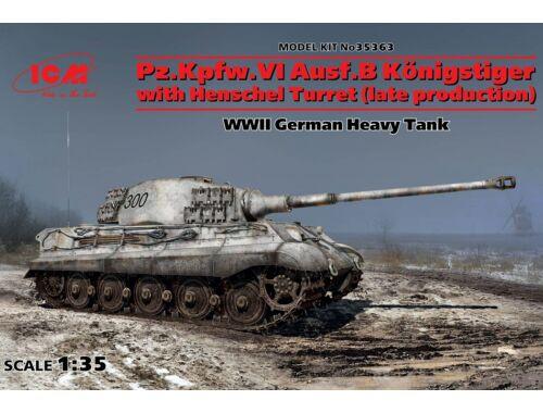 ICM Pz.Kpfw.VI Ausf.B King Tiger w.Henschel (late) 1:35 (35363)