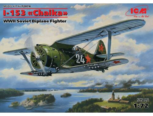 "ICM I-153 ""Chaika"", WWII Soviet Biplane Fighter 1:72 (72074)"