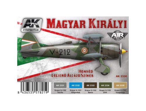 AK Magyar Kir. Légierő álcázó színei akril festék szett (AK2330)