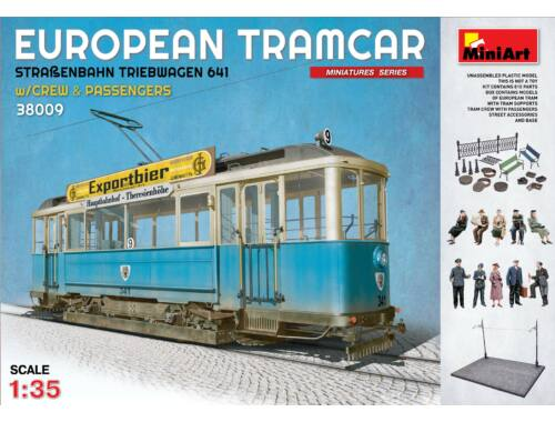 Miniart European Tramcar w/crew and passengers 1:35 (38009)