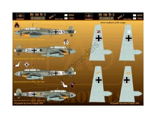 HADmodels Bf-110D-3 matrica 1:72 (72152)