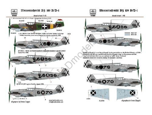 HADmodels Bf-109B/D matrica 1:48 (48168)