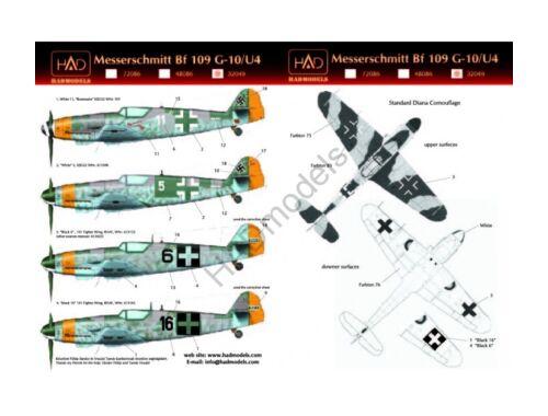 HADmodels Bf-109G-10 matrica 1:32 (32049)