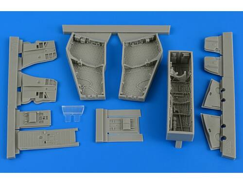 Aires F-4C/D Phantom II wheel bay with covers for Academy 1:48 (4688)