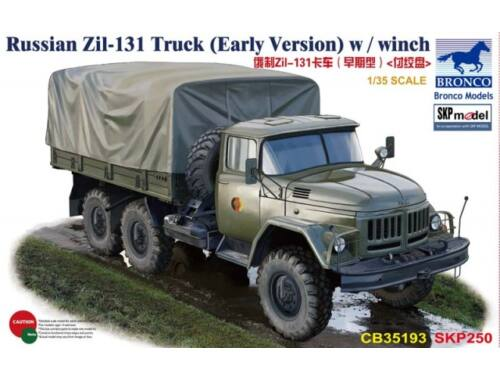 Bronco Russian Zil-131 Truck (Early Version) w/winch 1:35 (CB35193)
