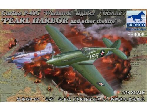 Bronco Curtiss P-40C'Warhawk'Fighter (US Army Air Force) 1:48 (FB4008)
