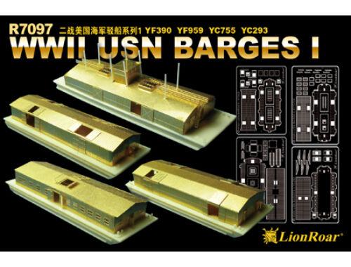 Lion Roar WWII USN BargesI YF390 YF959 YC755 YC293 1:700 (R7097)