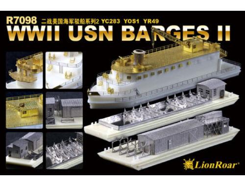 Lion Roar WWII USN BargesII YC283 YOS1 YR49 1:700 (R7098)