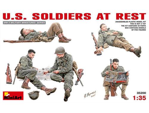 Miniart U.S. Soldiers at Rest 1:35 (35200)