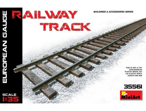Miniart Railway Track (European Gauge) 1:35 (35561)