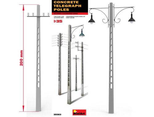 Miniart Concrete Telegraph Poles 1:35 (35563)