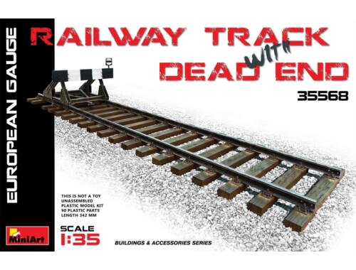 Miniart Railway Track   Dead End(European Gauge) 1:35 (35568)