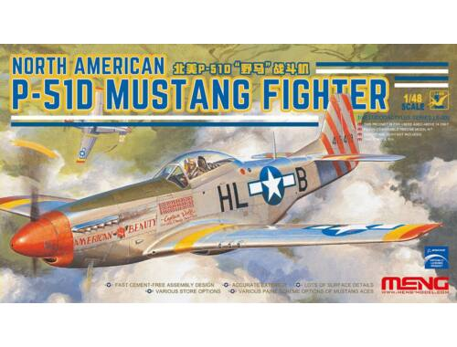 Meng North American P-51D Mustang Fighter 1:48 (LS-006)
