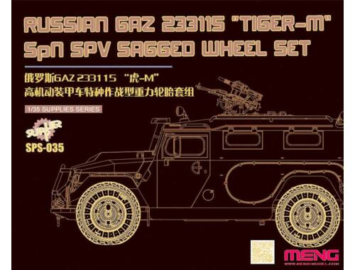 "Meng GAZ 233115""Tiger-M""SPN SPV Saged wheel Set (Resin) 1:24 (SPS-035)"