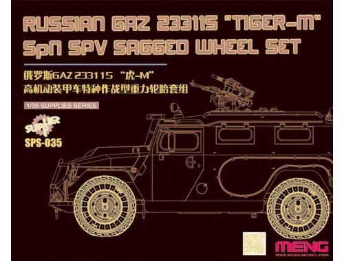 """Meng GAZ 233115""""Tiger-M""""SPN SPV Saged wheel Set (Resin) 1:24 (SPS-035)"""
