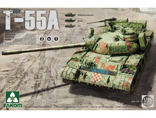 Takom Russian Medium Tank T-55A (3 in 1) 1:35 (2056)