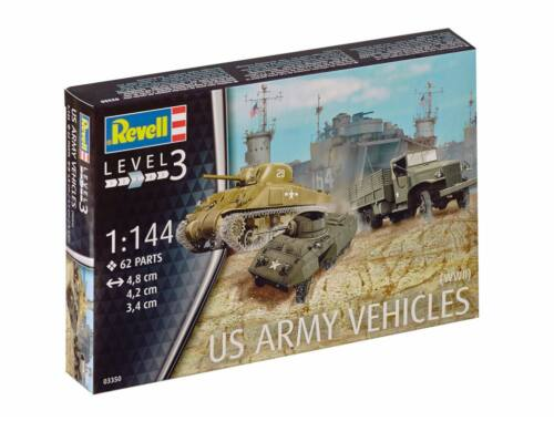 Revell US Army vehicles M4 Sherman   M8 Greyhound   CCKW Truck 1:144 (3350)