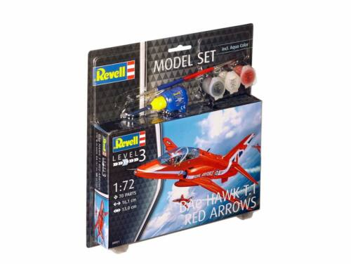 Revell Model Set Bae Hawk T-1 Red Arrows 1:72 (64921)