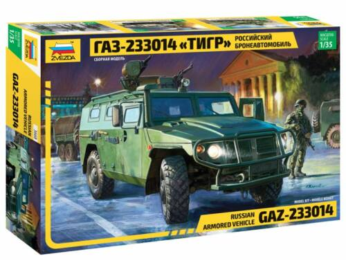 Zvezda Russian Armored Vehicle GAZ-233014 Tiger 1:35 (3668)