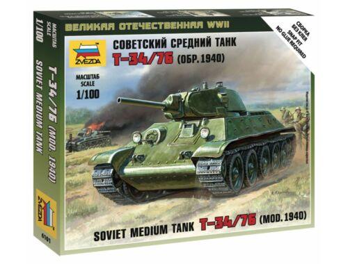 Zvezda Soviet Medium Tank T-34/76 1:100 (6101)