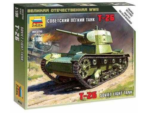 Zvezda Soviet tank T-26 1:100 (6113)