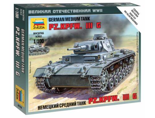 Zvezda German Tank Panzer III 1:100 (6119)