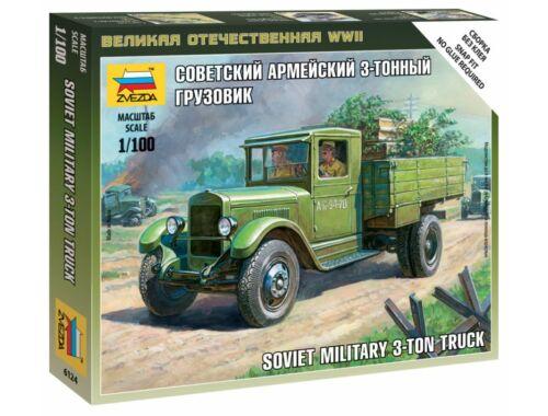 Zvezda Soviet Military 3 Ton Truck ZIS-5 1:100 (6124)