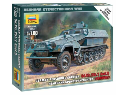 Zvezda German Personnel Carrier Sd.Kfz.251/1 Ausf.B 1:100 (6127)