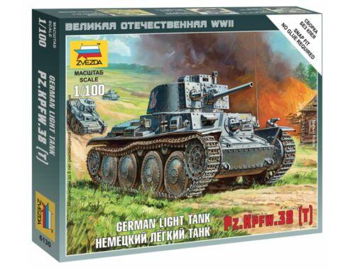 Zvezda German Light Tank Pz.Kpfw.38 (T) 1:100 (6130)