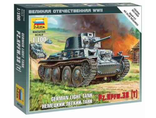 Zvezda German Light Tank Pz.Kpfw.38 (T) 1:100 (6130)