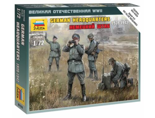 Zvezda German HQ WWII Military small set 1:72 (6133)