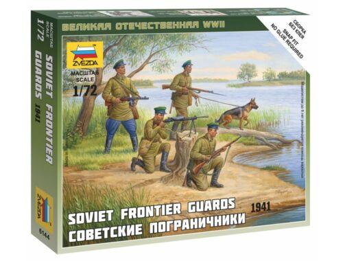 Zvezda Soviet Frontier Guard Military small set 1:72 (6144)