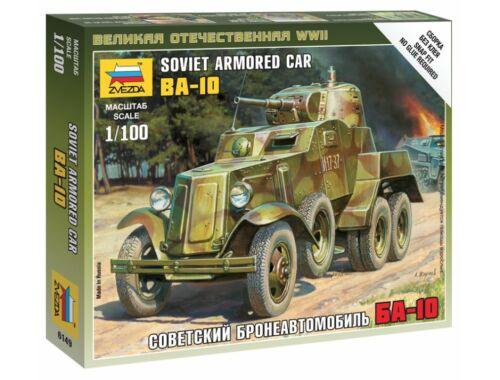Zvezda Soviet Armored Car BA-10 1:100 (6149)