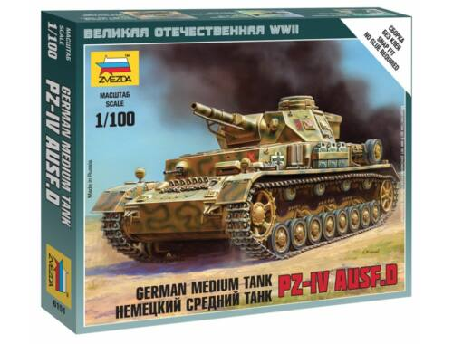 Zvezda German Medium Tank PZ-IV Ausf.D 1:100 (6151)