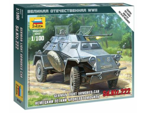Zvezda Sd.Kfz.222 Armored Car 1:100 (6157)