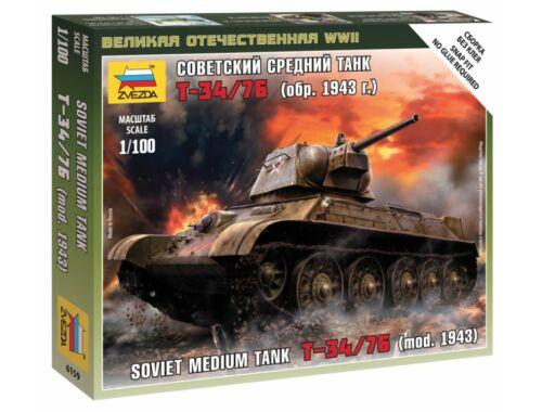 Zvezda Soviet Medium Tank T-34-76 mod.1942 1:100 (6159)
