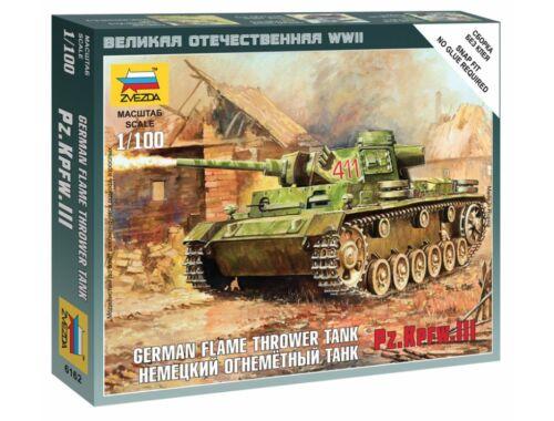 Zvezda Panzer III Flamethrower Tank 1:100 (6162)