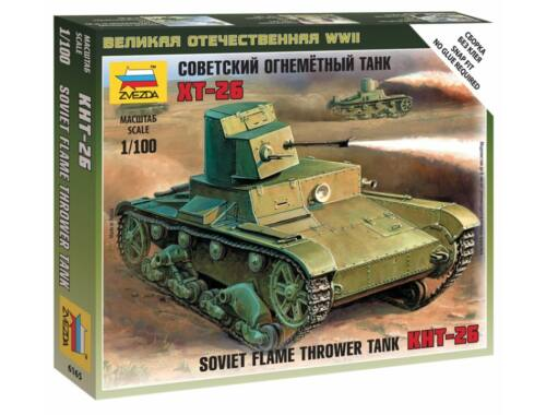 Zvezda T-26 Flamethrower Tank 1:100 (6165)