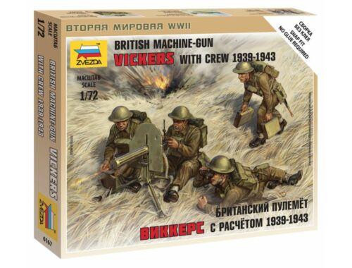 Zvezda British Machine Gun w/crew 39-42 1:72 (6167)