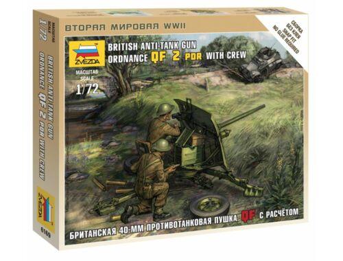Zvezda British QF 2-pdr Anti Tank Gun w/crew 1:72 (6169)