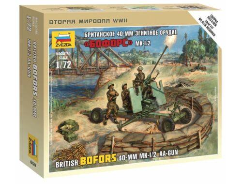 Zvezda British Bofors 40mm Mk-2 AA-Gun 1:72 (6170)