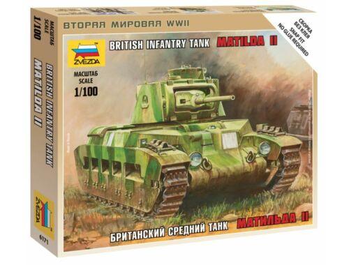Zvezda British Tank Mk-1 'Matilda' 1:100 (6171)