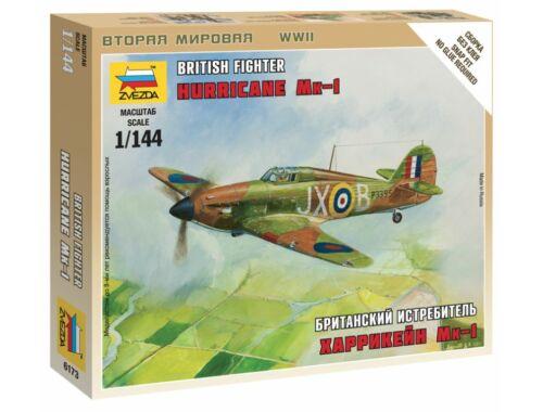 Zvezda British Fighter `Hurricane Mk-1` 1:144 (6173)