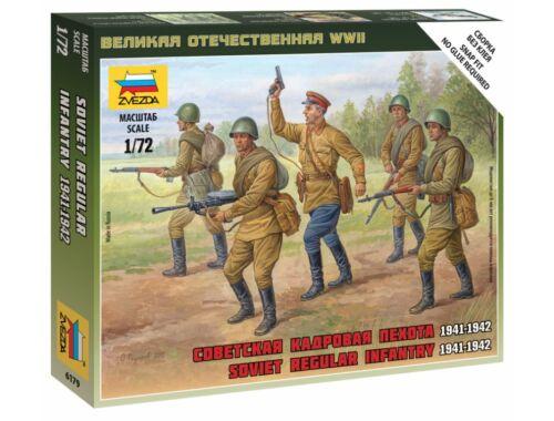 Zvezda Soviet Regular Infantry 1941-42 1:72 (6179)