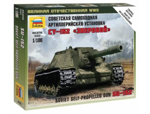 Zvezda Self-propelled Gun SU-152 1:100 (6182)