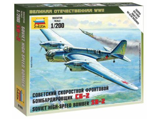 Zvezda Soviet Bomber SB-2 1:200 (6185)