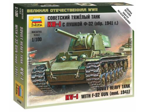 Zvezda KV-1 with F-32 Gun Military small sets 1:100 (6190)