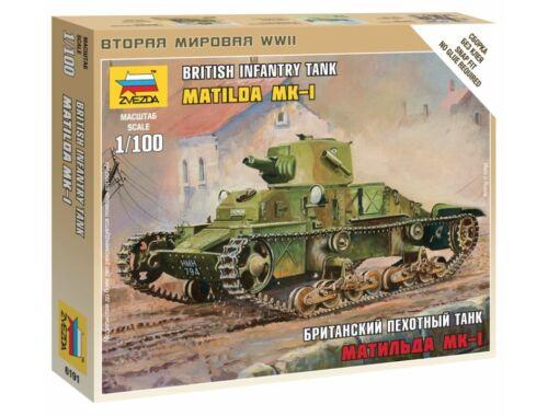 Zvezda British Light Tank 'Matilda' MK1 1:100 (6191)