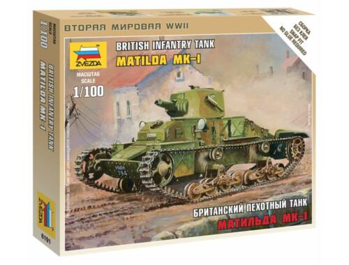 Zvezda British Light Tank 'Matilda' MK1 1:100 (6191)
